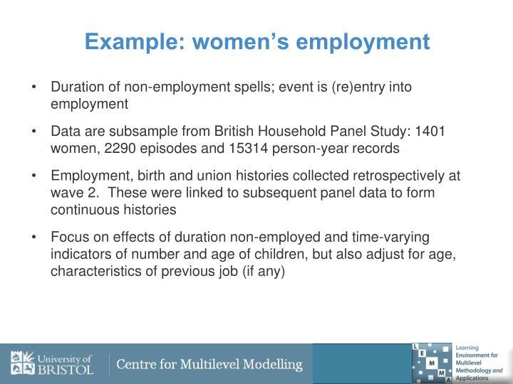 Example: women's employment