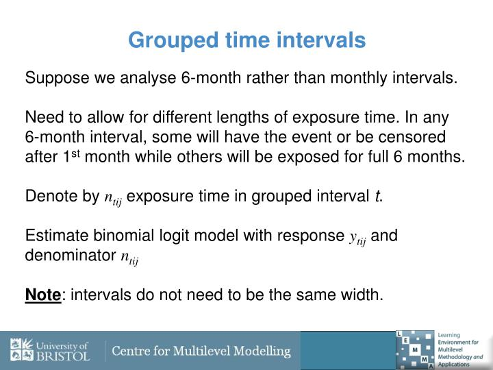 Grouped time intervals