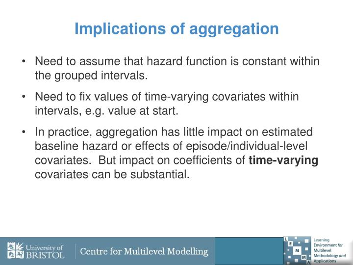Implications of aggregation