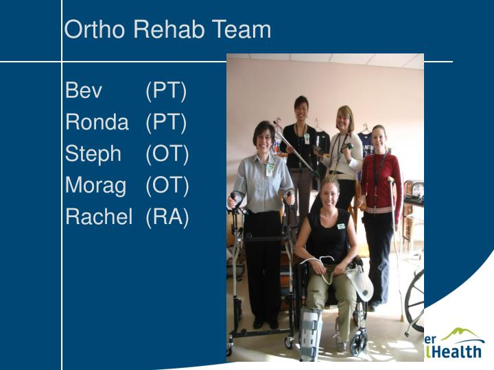 Ortho Rehab Team