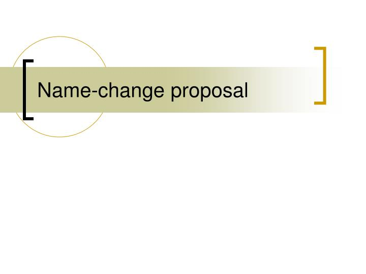 Name-change proposal
