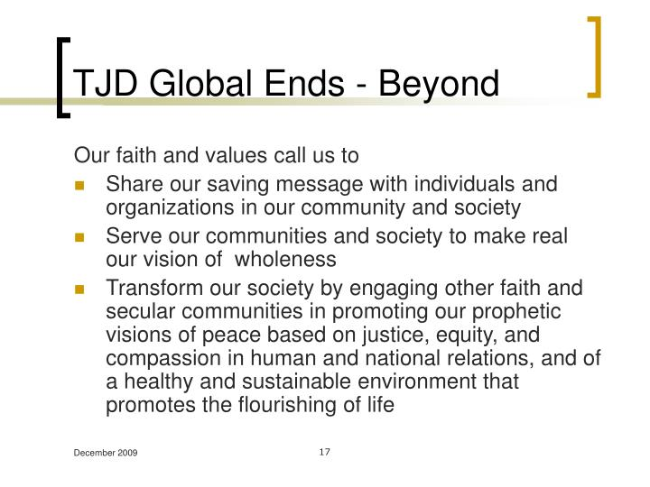TJD Global Ends - Beyond