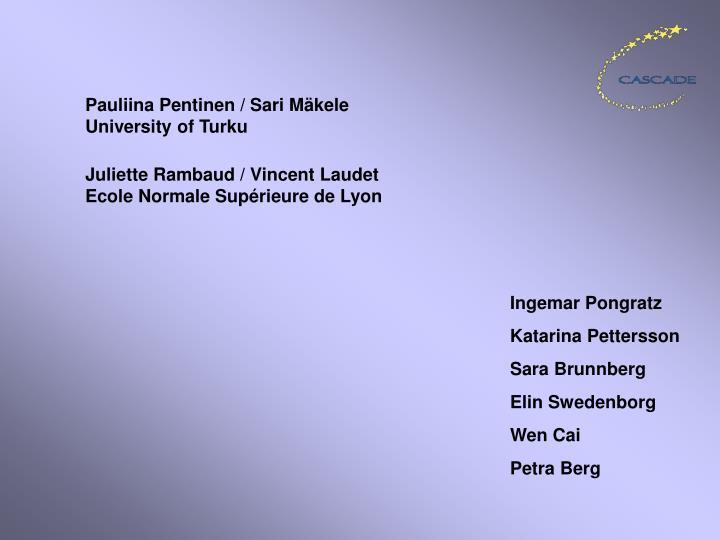 Pauliina Pentinen / Sari Mäkele