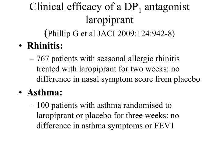 Clinical efficacy of a DP