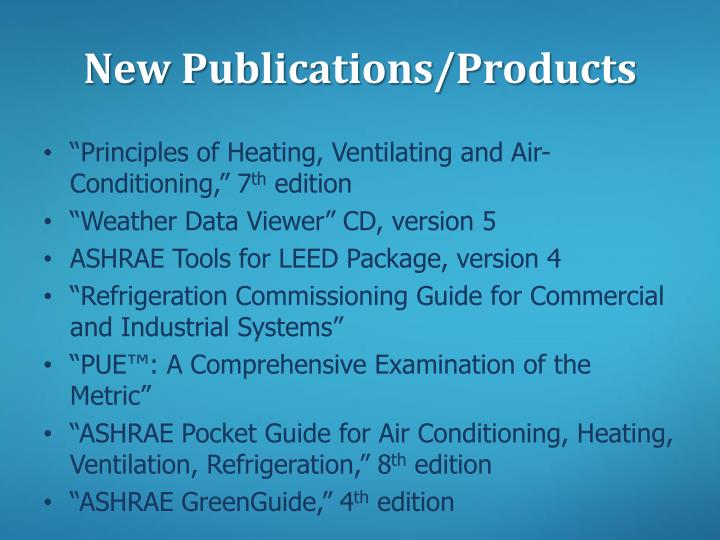 New Publications/Products