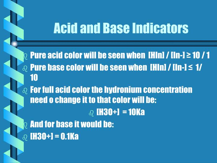 Acid and Base Indicators