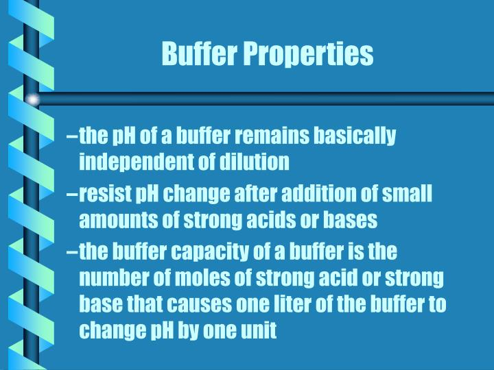 Buffer Properties