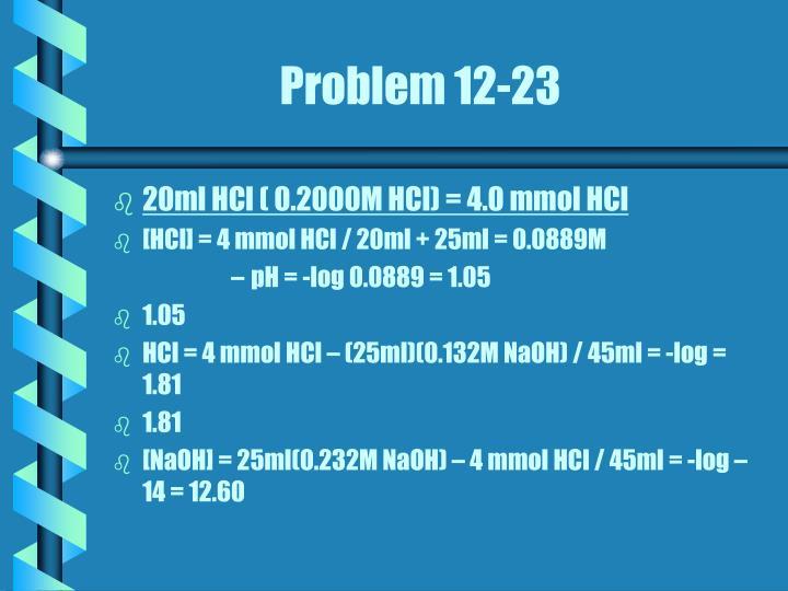 Problem 12-23