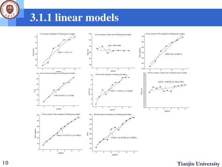 3.1.1 linear models