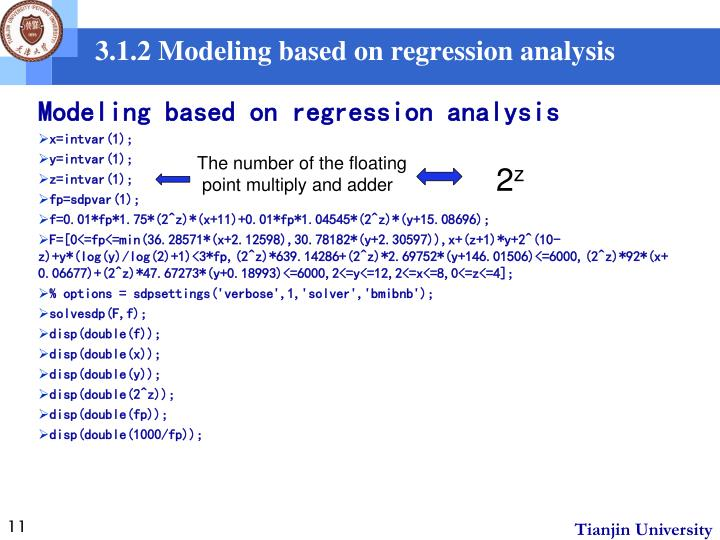 3.1.2 Modeling based on regression analysis