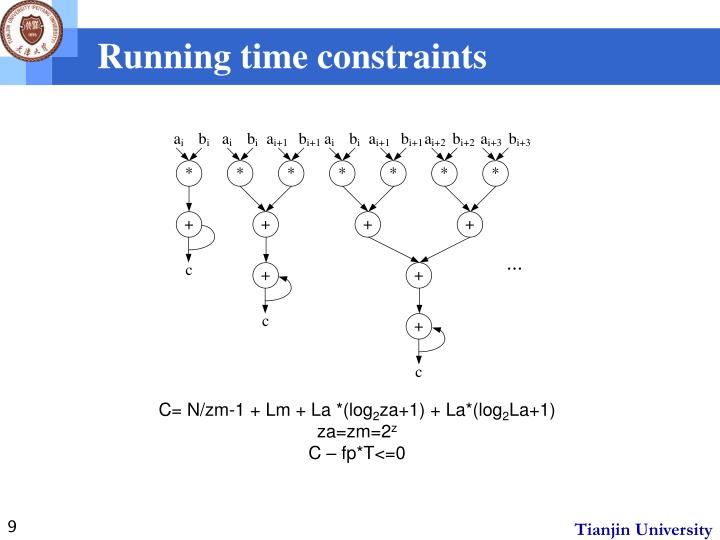 Running time constraints