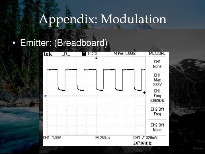 Appendix: Modulation