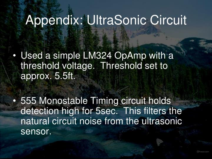 Appendix: UltraSonic Circuit