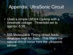 appendix ultrasonic circuit