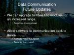 data communication future updates
