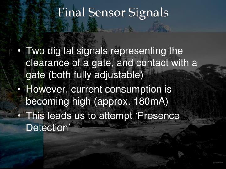 Final Sensor Signals