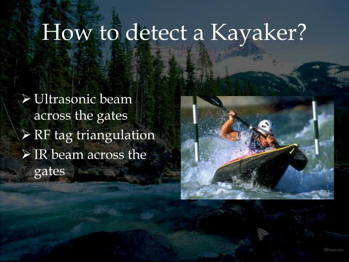 How to detect a Kayaker?