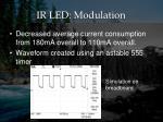 ir led modulation