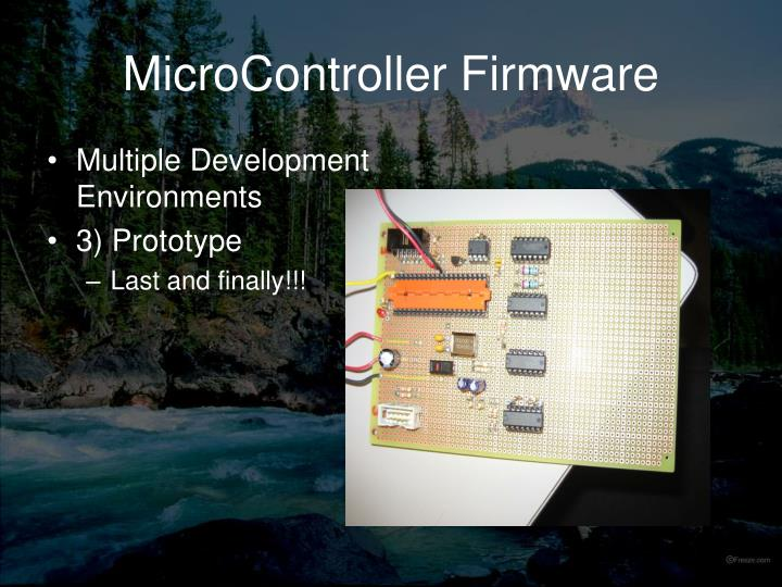 MicroController Firmware