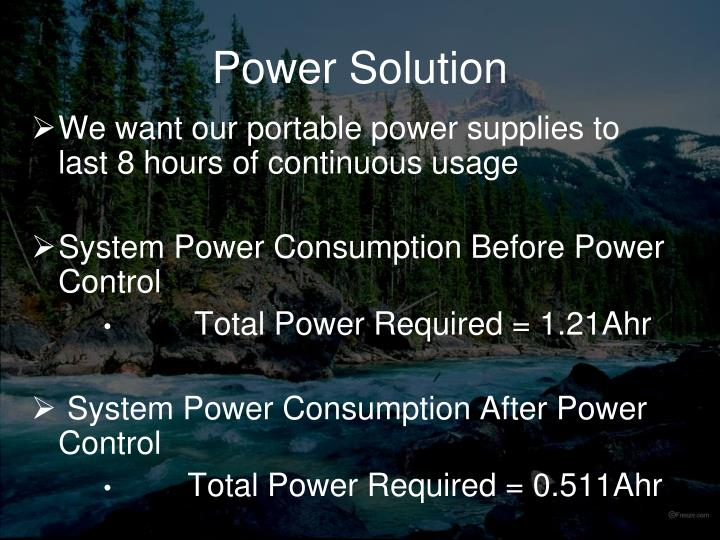 Power Solution
