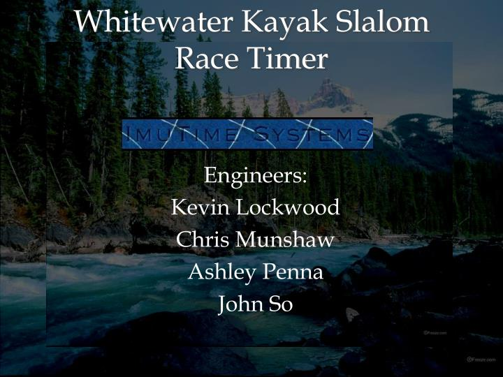 Whitewater kayak slalom race timer