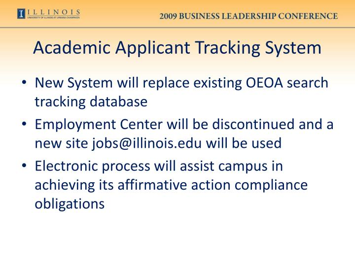 Academic Applicant Tracking System
