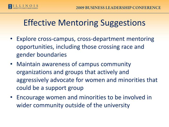 Effective Mentoring Suggestions