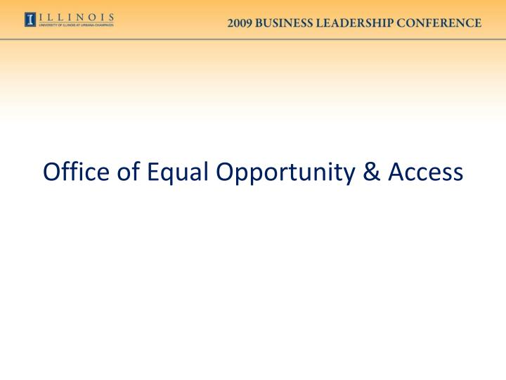 Office of Equal Opportunity & Access