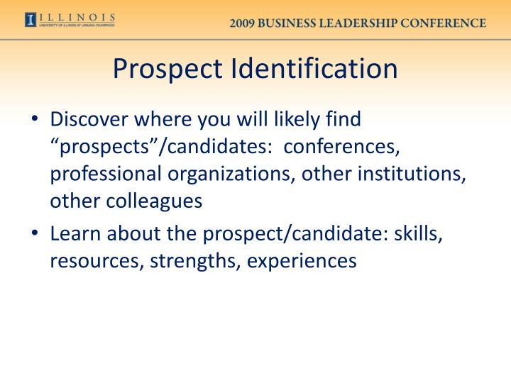 Prospect Identification