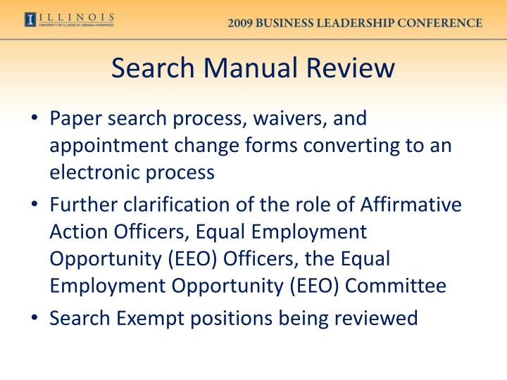 Search Manual Review
