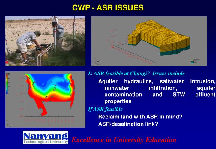 CWP - ASR ISSUES