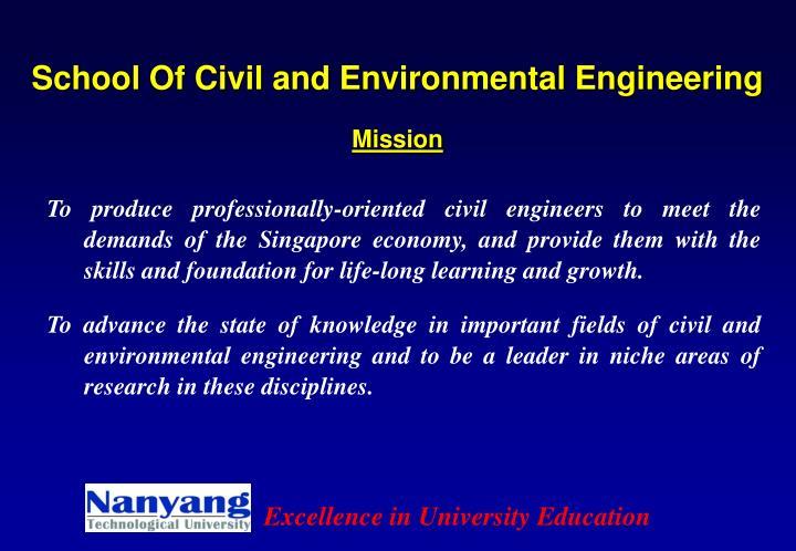 School Of Civil and Environmental Engineering