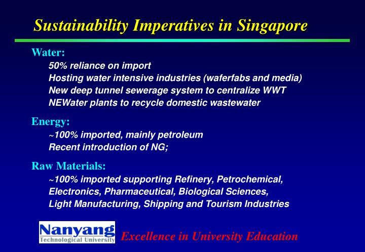 Sustainability Imperatives in Singapore