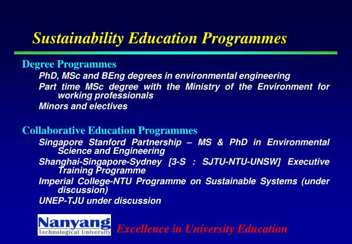 Sustainability Education Programmes