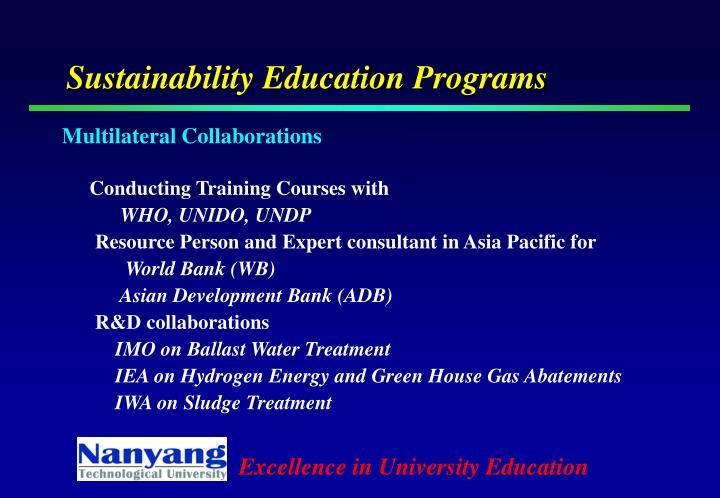 Sustainability Education Programs