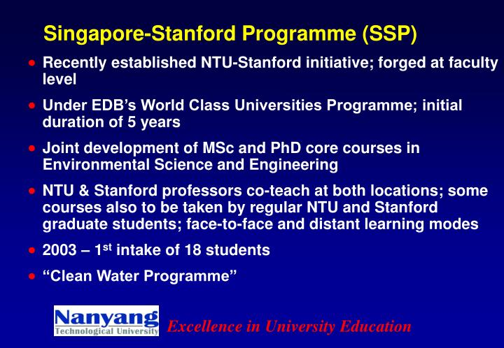 Singapore-Stanford Programme (SSP)