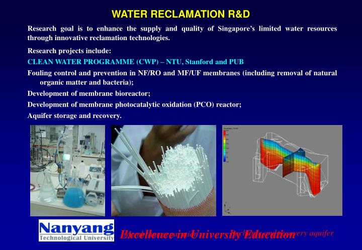 WATER RECLAMATION R&D