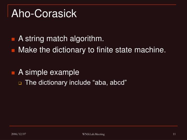 Aho-Corasick
