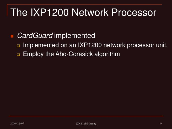 The IXP1200 Network Processor