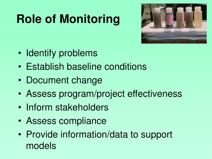 Role of Monitoring