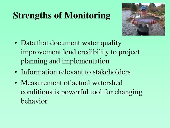 Strengths of Monitoring
