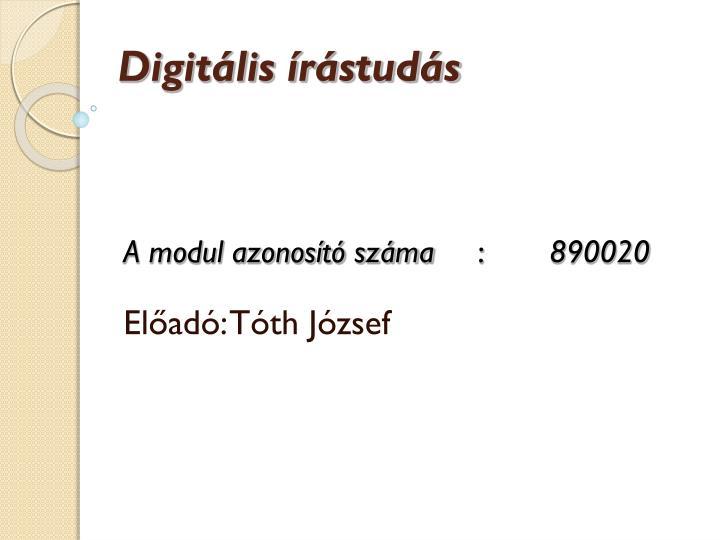 Digitális írástudás