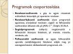 programok csoportos t sa