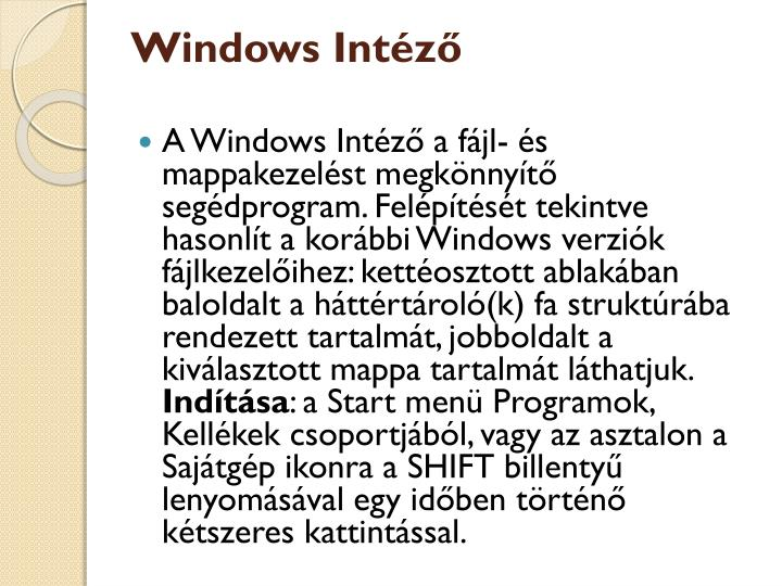 Windows Intéző