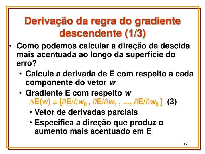 Derivação da regra do gradiente descendente (1/3)