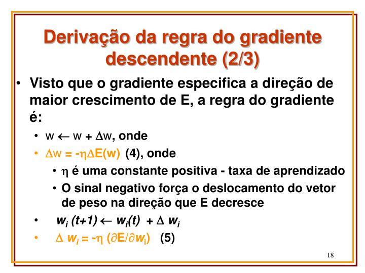 Derivação da regra do gradiente descendente (2/3)