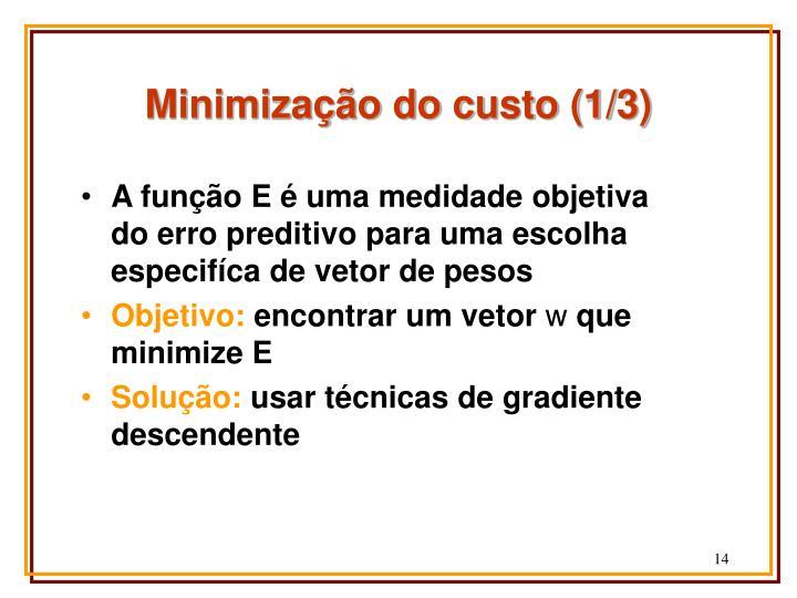 Minimização do custo (1/3)