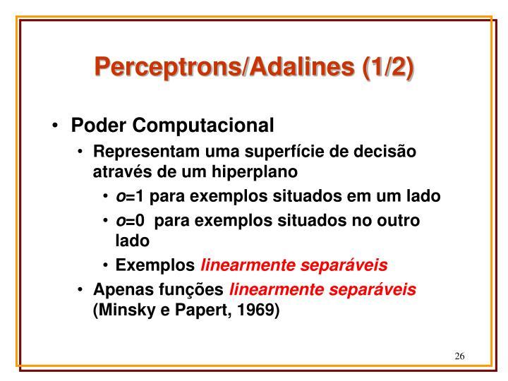 Perceptrons/Adalines (1/2)
