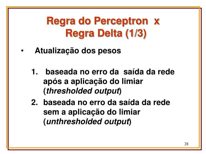 Regra do Perceptron  x