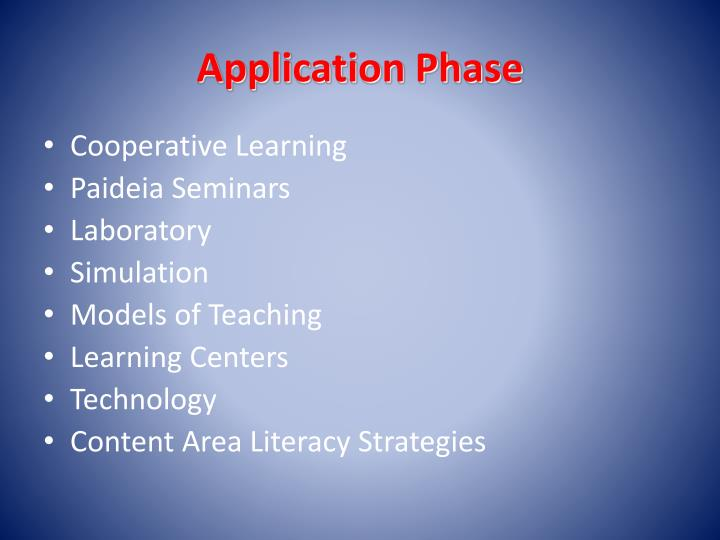 Application Phase